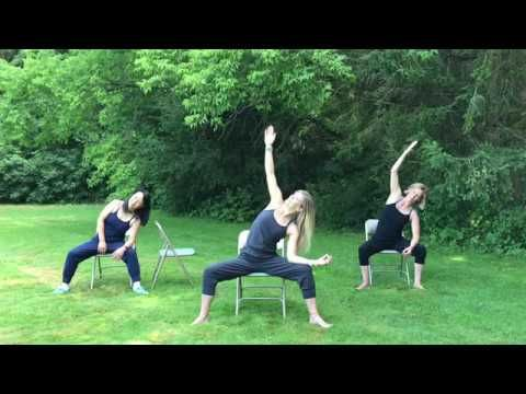 gentle chair yoga 30 min  youtube with images  chair