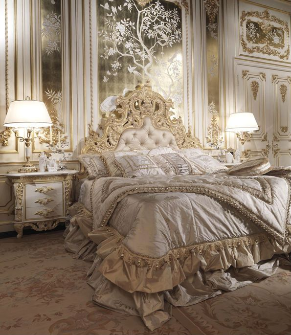 8 Luxury Bedrooms In Detail: Luxury Classic Italian Bedroom Set. The Highest Quality Of