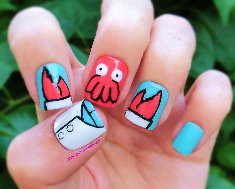 internet nail art He looks crabby! | Nail Tech Wannabe | Pinterest ...