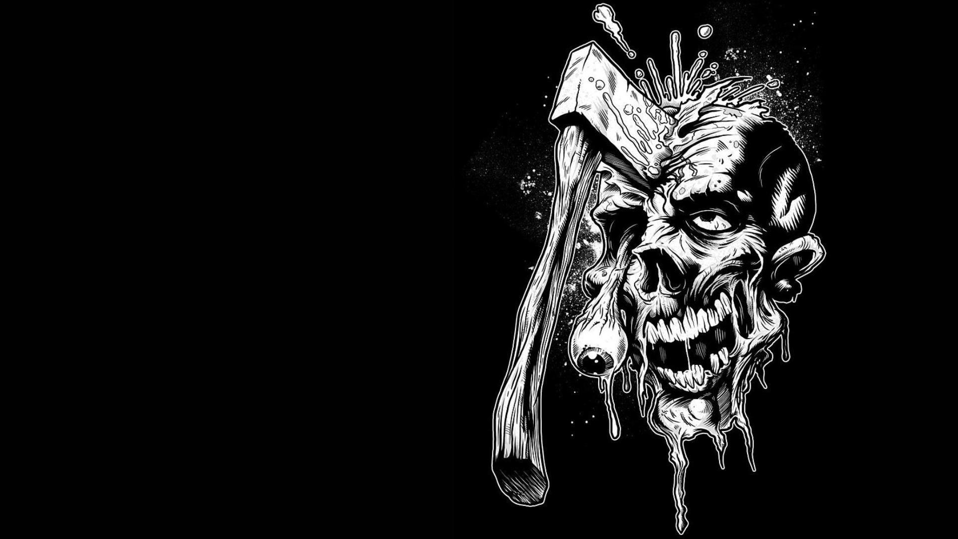 Dark Creepy Wallpaper Zombie Wallpaper Skull Wallpaper Zombie Background