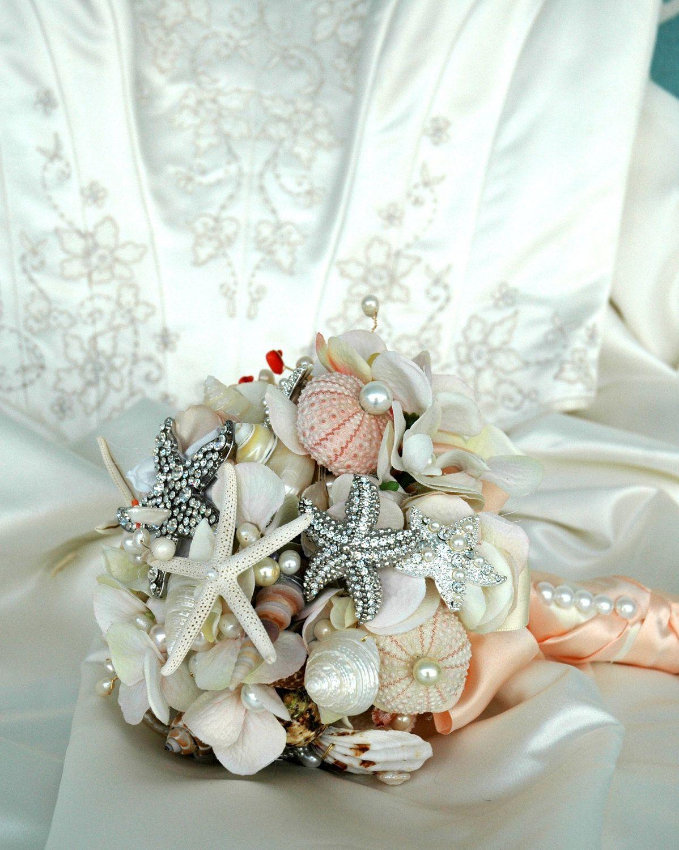 Sea shell wedding bouquet bridal brooch bouquet wedding sea shell wedding bouquet bridal brooch bouquet wedding accessories flower alternative bouquet izmirmasajfo