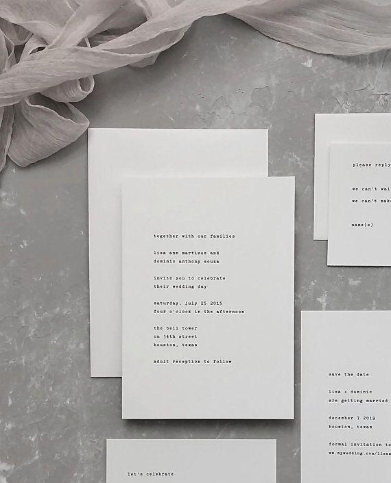 Typewriter Wedding Invitation Typewriter Save The Dates