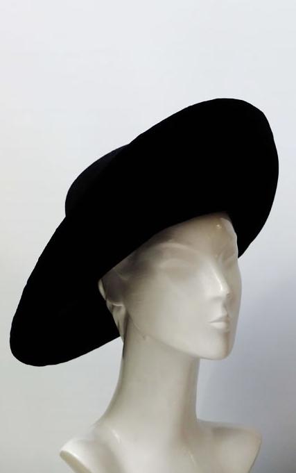 d05a6d3e7e1 John Boyd black wide-brimmed hat