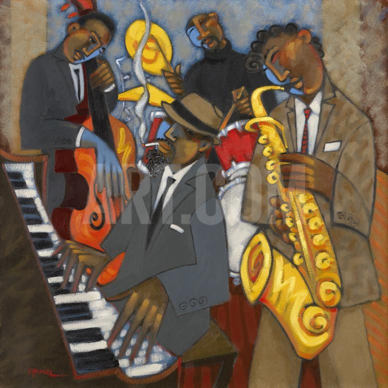 Thelonious Monk and his Sidemen Giclee Print by Marsha Hammel at Art.com
