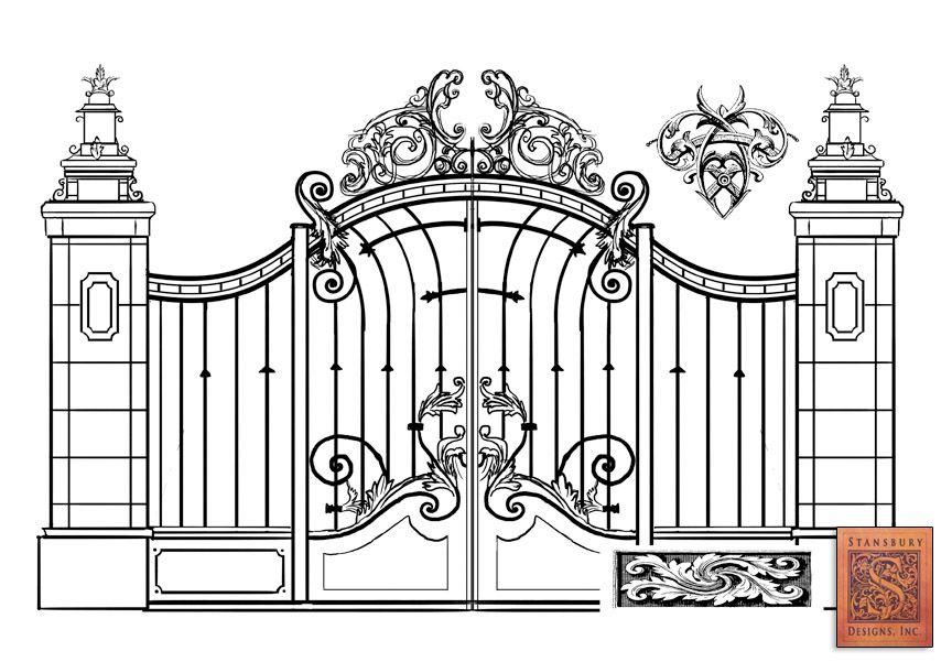 Types 12 Industrial Gate Design Gate Design Wrought Iron Gates