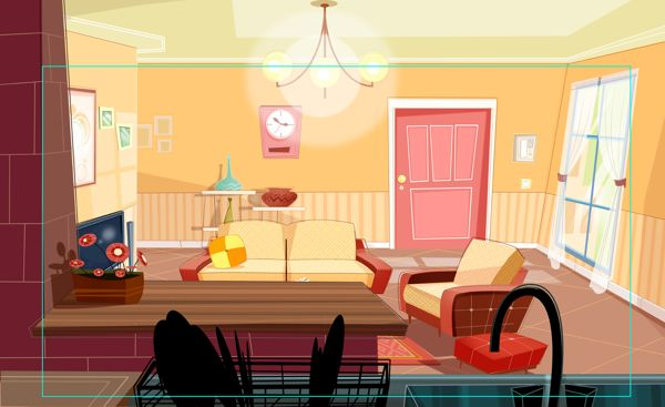 Living Room By Somayeh Yazdanpanah Via Behance Game Background