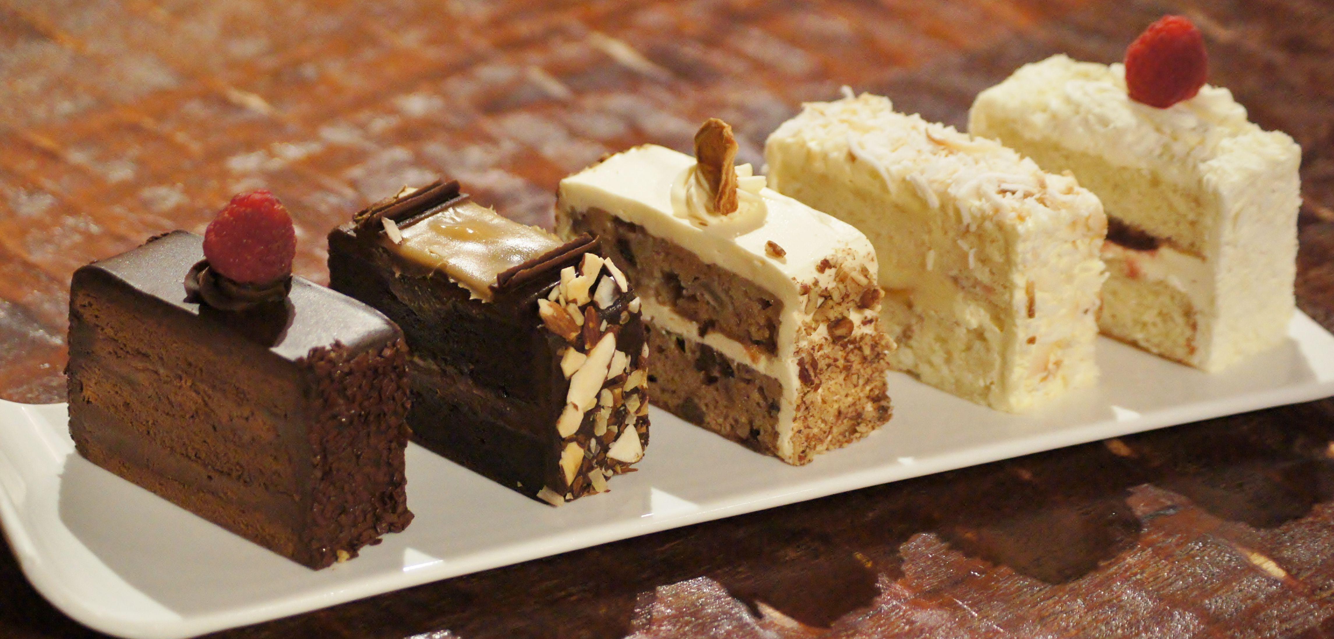 Assorted Karen\u0027s Bakery cake slices