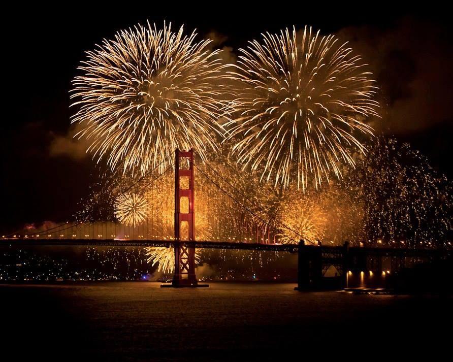 Golden Gate Bridge New Year's Eve Fireworks, Golden gate