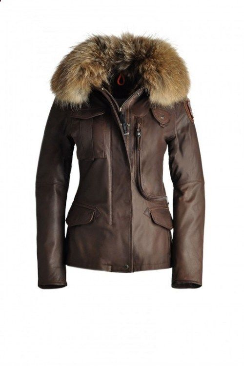 Womens Parajumpers Denali Leather Jackets Brown 81% Off, Cheap Sale Online.