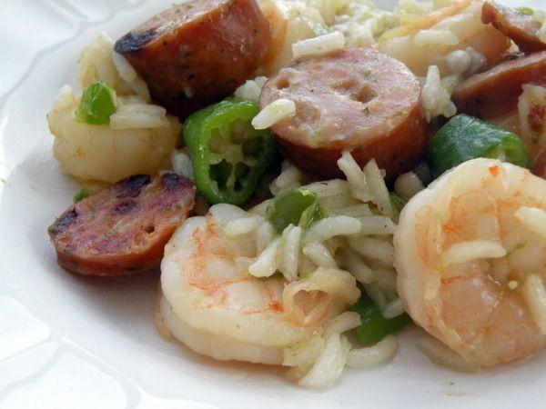 Cajun Jambalaya with Shrimp, Sausage and Okra - Lunch