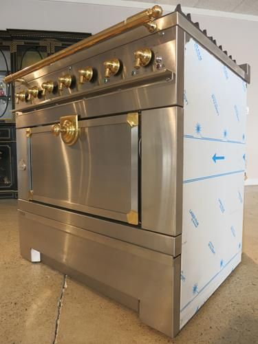 Stainless La Cornue 1908 With Br Trim Luxury