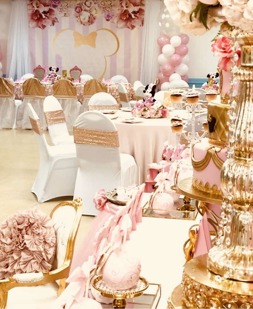 Minnie Mouse Royal Princess Birthday Party Ideas With Images