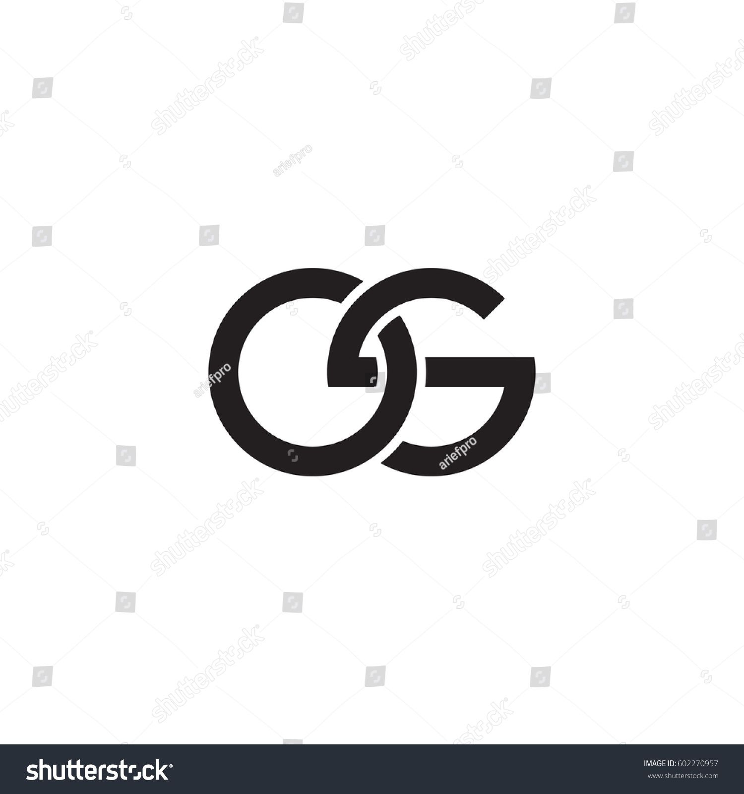 Initial letters os, round overlapping chain shape