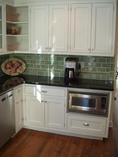 Again, love the combo of cabinets, tile, and counters, also like the ...