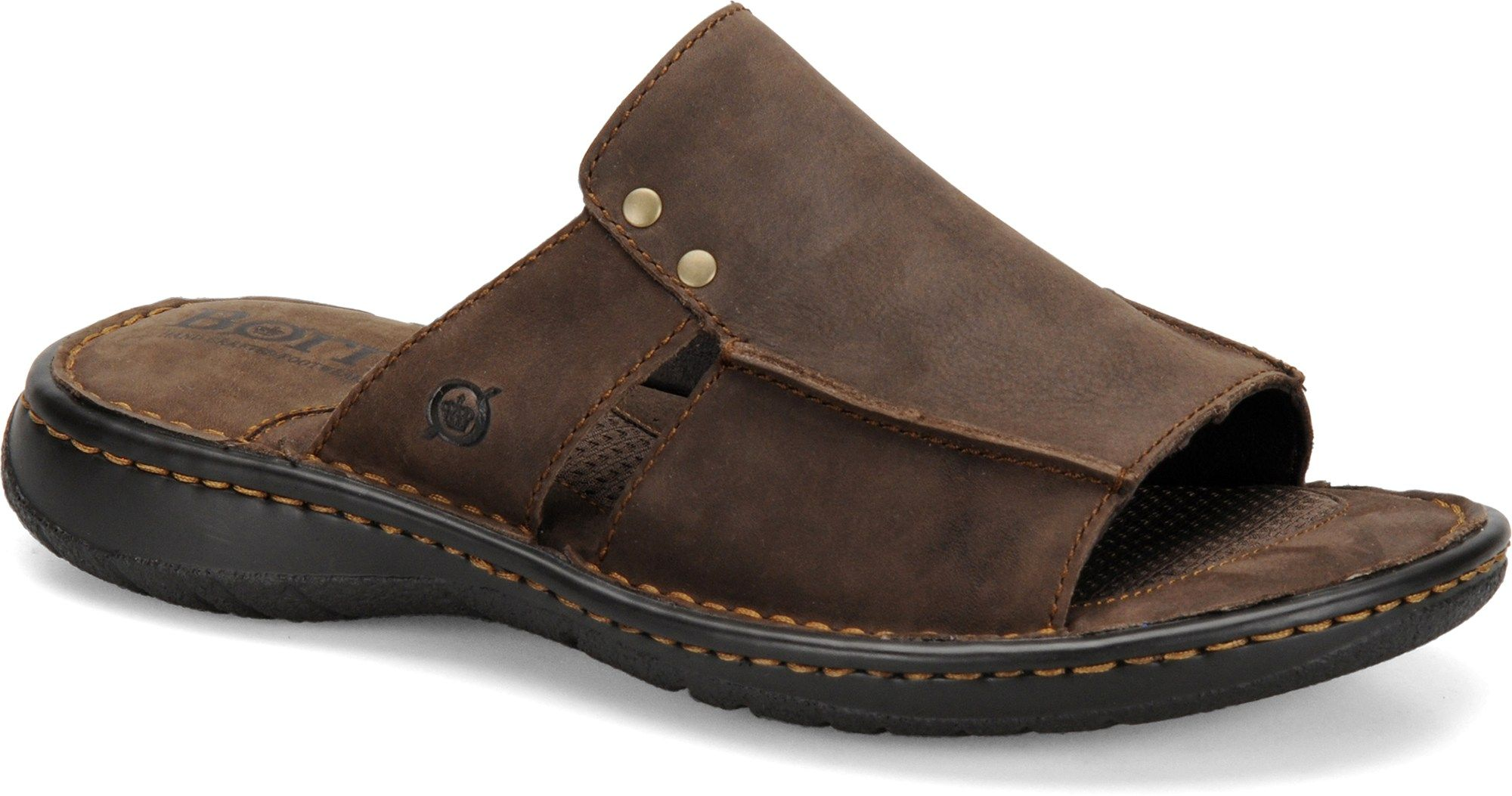 Mens leather sandals, Leather slippers