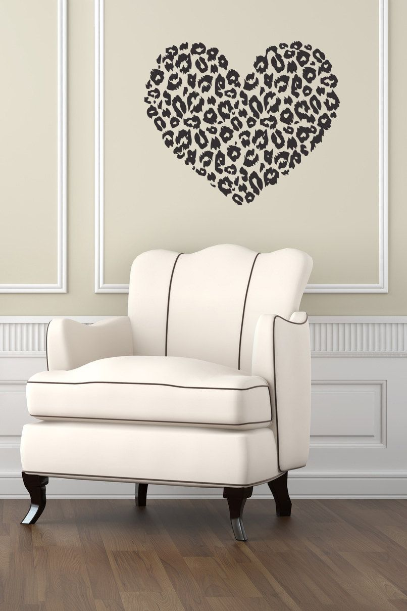 Heart Wall Decals Animal Dog Paws Decal Pet Shop Veterinary Design