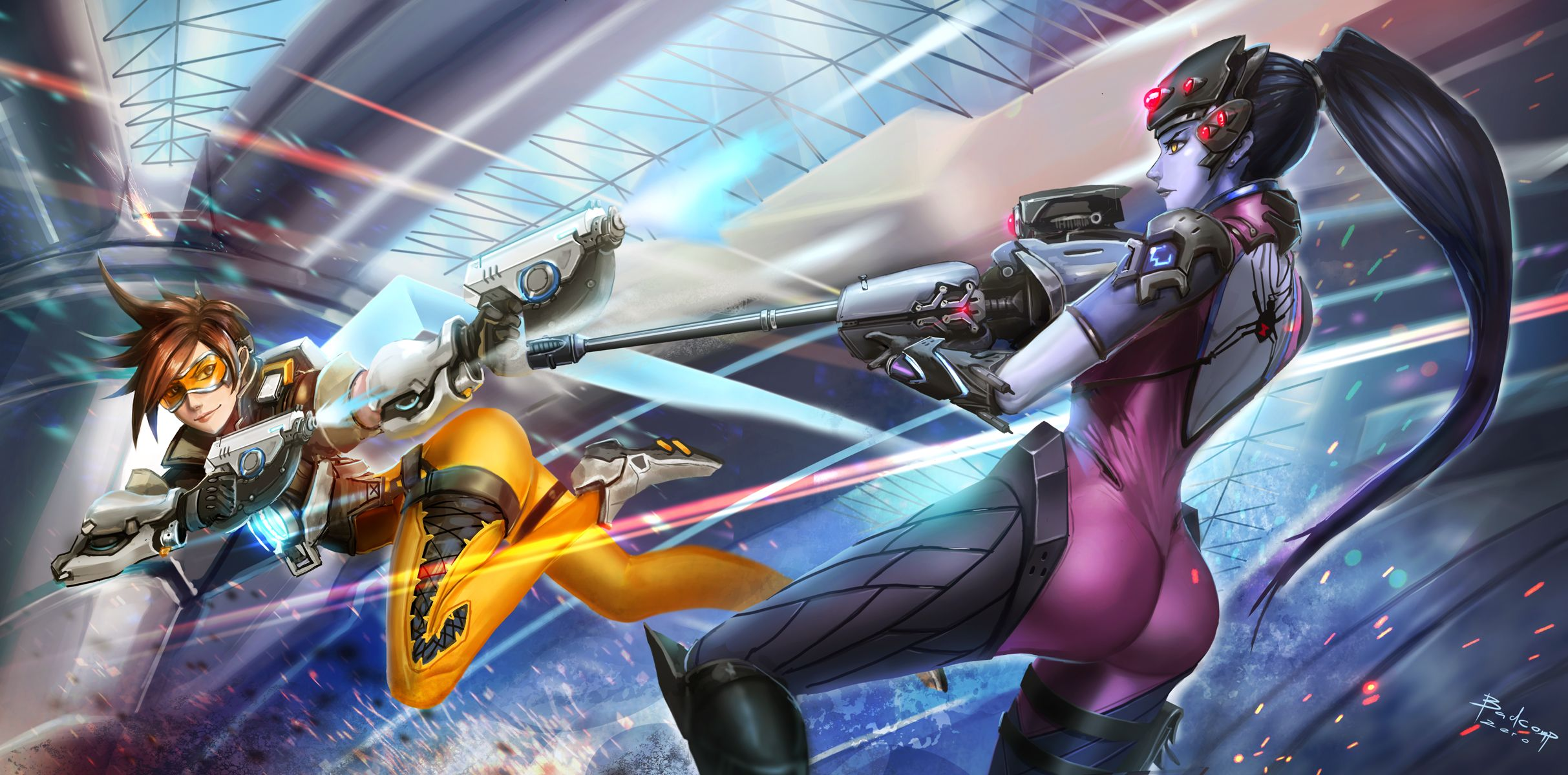 Pin By Mark On 오버워치 Overwatch Overwatch Tracer Overwatch Wallpapers Overwatch