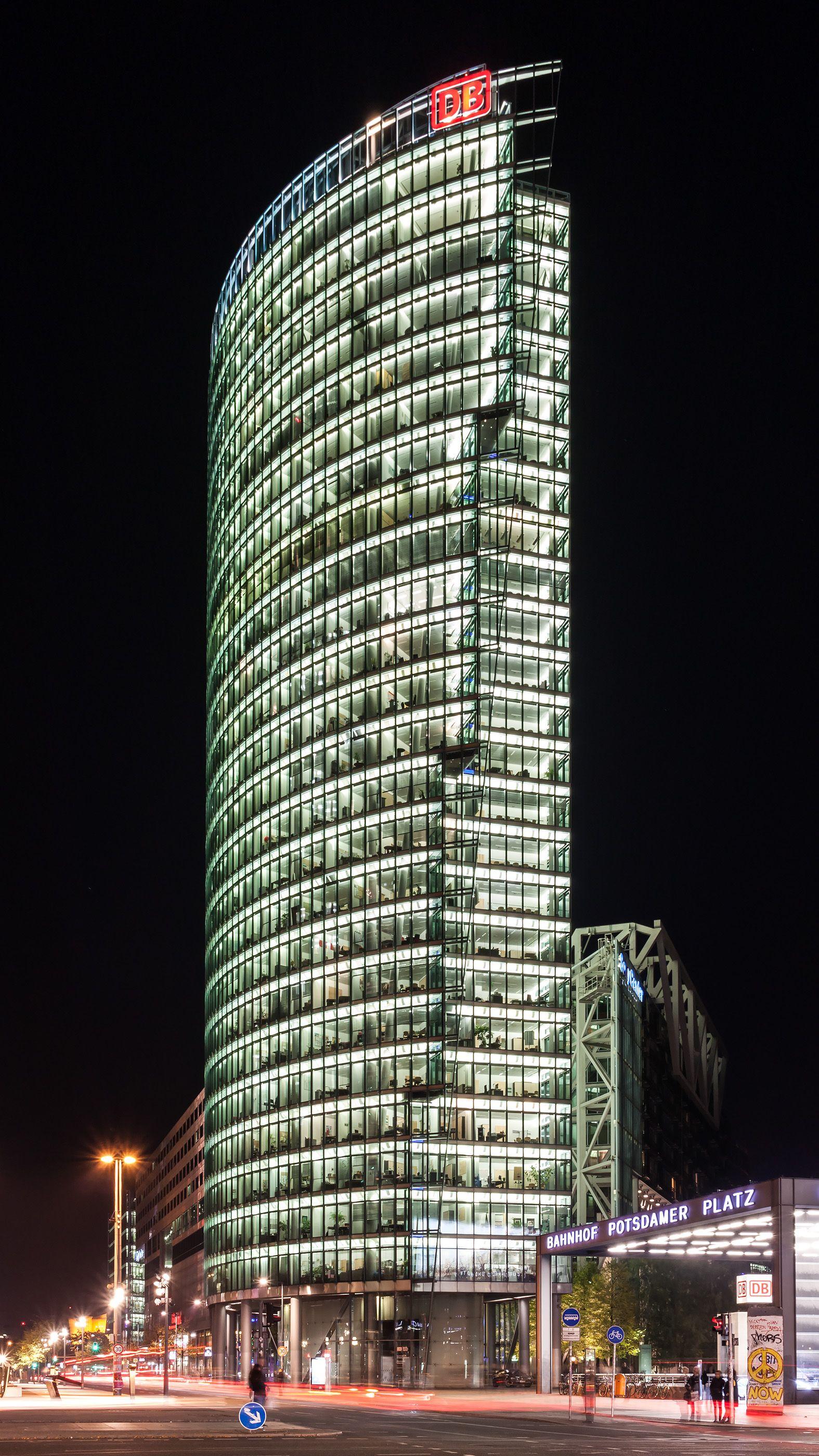 Helmut Jahn Architects DB Bahntower, Potsdamer Platz