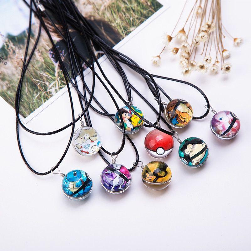 Heißer Glas Schmuck Eevee Pokeball Halskette Pokemon Ball Anhänger Personalisierte Bild Halsketten