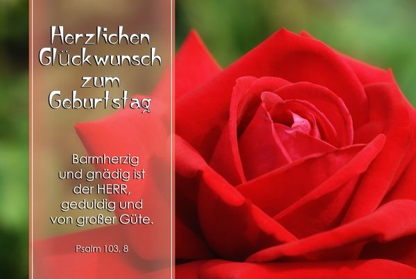 Mullers Design Foto Klappkarten Mit Bibelspruch Geburtstag