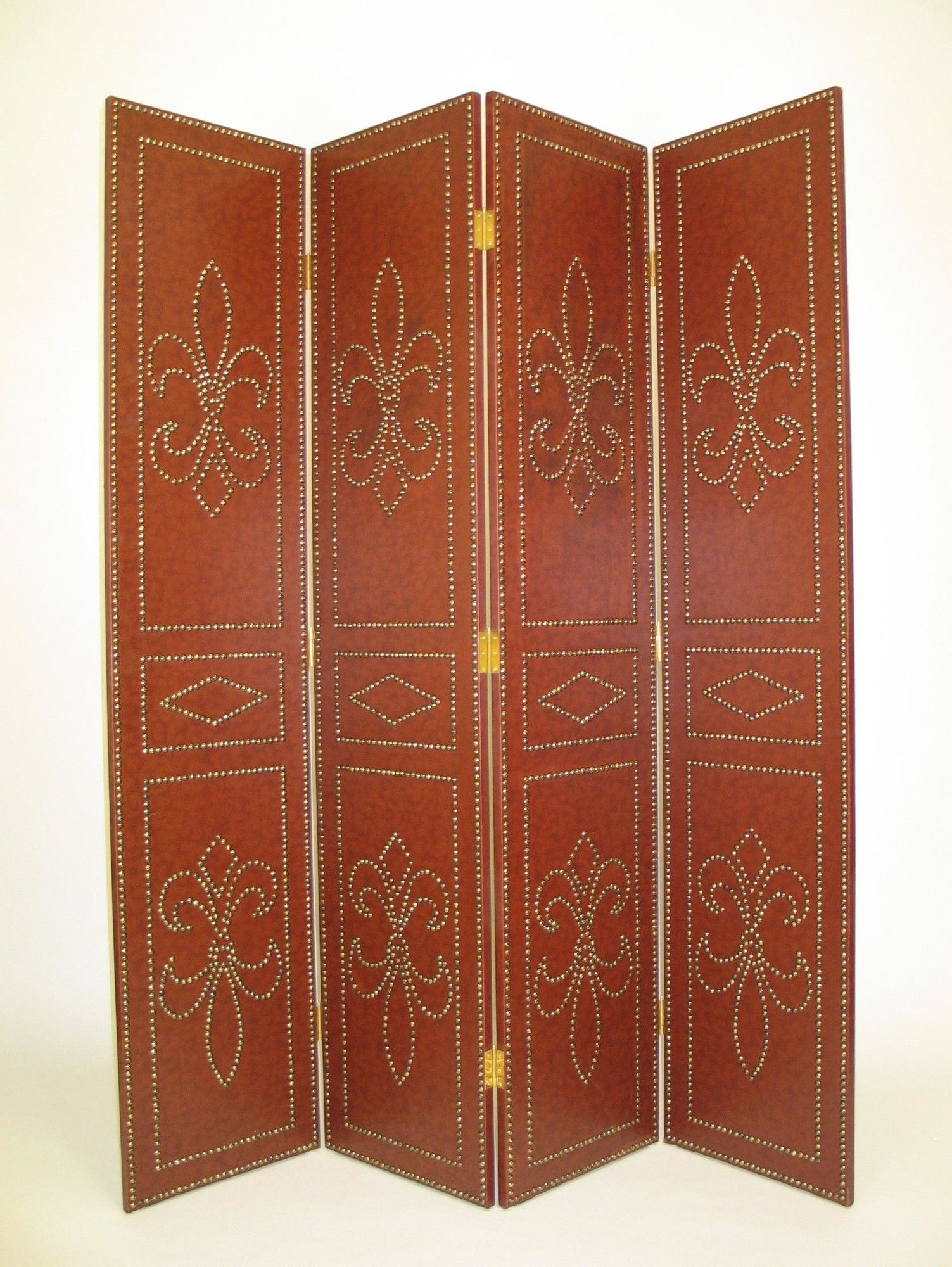 """72"""" X 64"""" Saloon Styled 4 Panel Room Divider"""