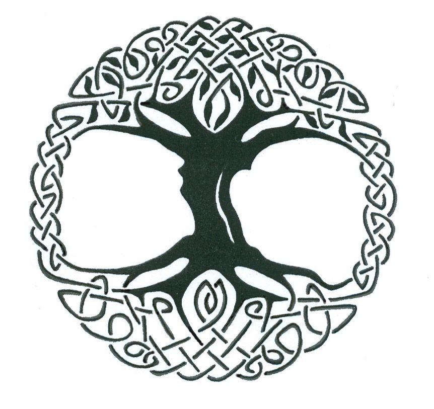 Tree Of Life Black White Celtic Tree Tattoos Celtic