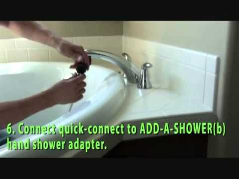 How To Add A Shower To Your Roman Tub Faucet Youtube With