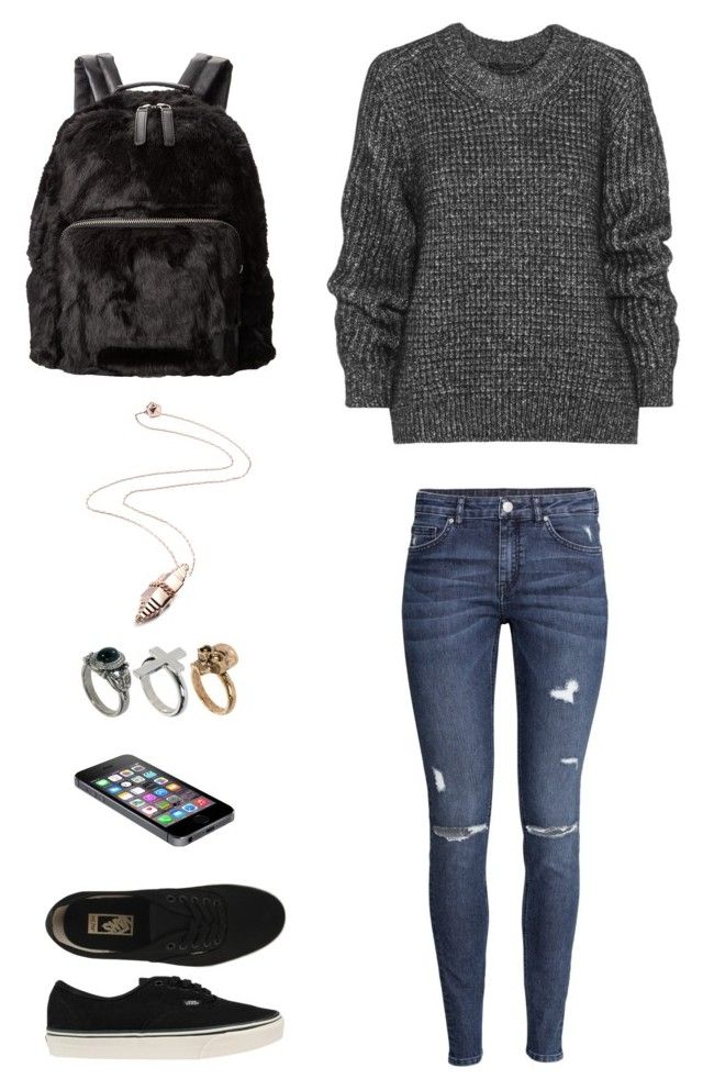"""Écho"" by anaisalimighty on Polyvore featuring mode, The Kooples, Belstaff, H&M, Vans, Eddie Borgo et River Island"