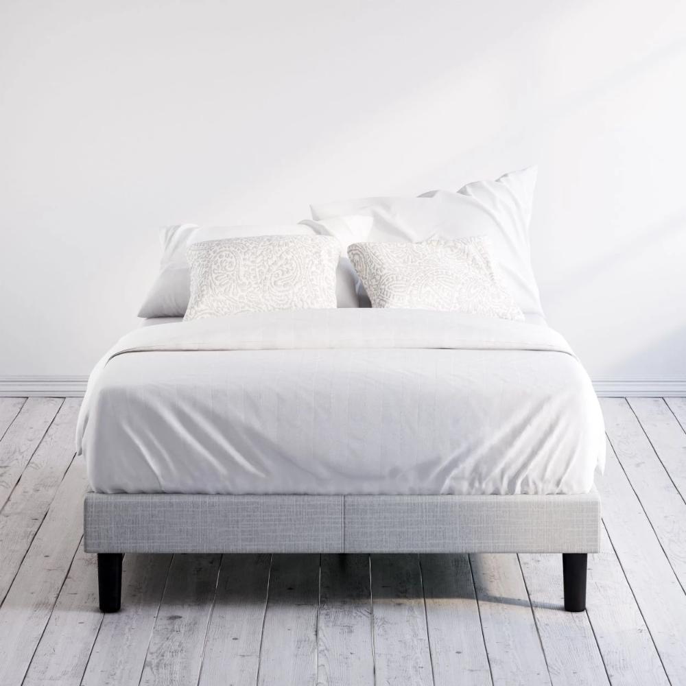 Curtis Upholstered Platform Bed Frame in 2020 Platform