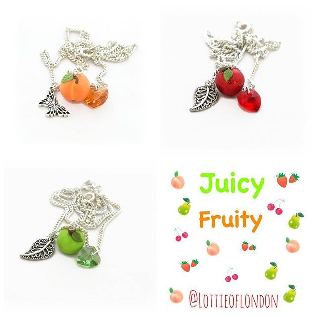 We're feeling Juicy Fruity at Lottie Of London with our fruity charm necklaces