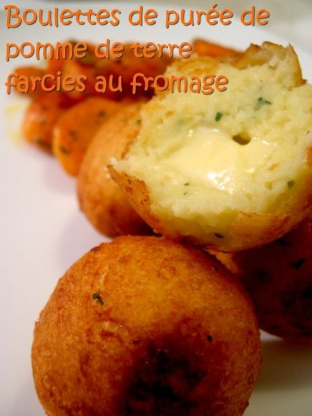 boulettes de pur e de pomme de terre farcies au fromage sal pinterest pur e de pomme la. Black Bedroom Furniture Sets. Home Design Ideas
