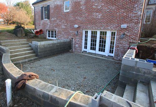 Bernardsville nj landscaping project under construction for Walkout basement construction