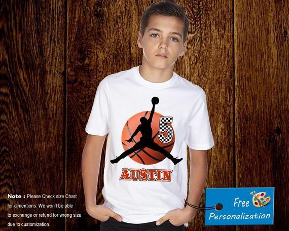 Personalized Air Jordan Basketball Birthday Shirt Add Name AGE Custom P046
