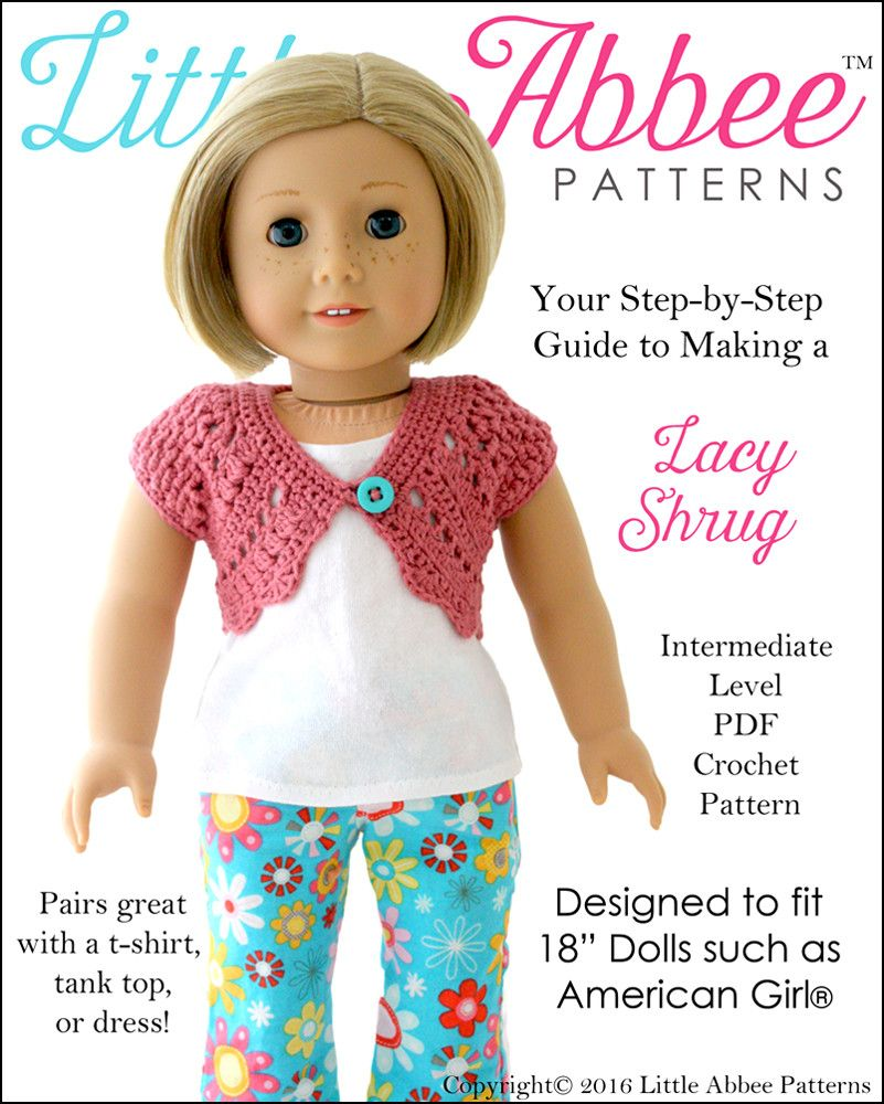 Lacy shrug crochet pattern girl dolls american girls and dolls girl doll clothes bankloansurffo Choice Image