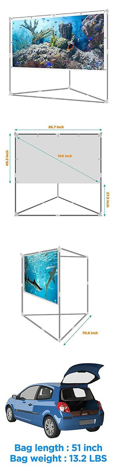 Projection Screens and Material: Video Projector Screen Outdoor ...
