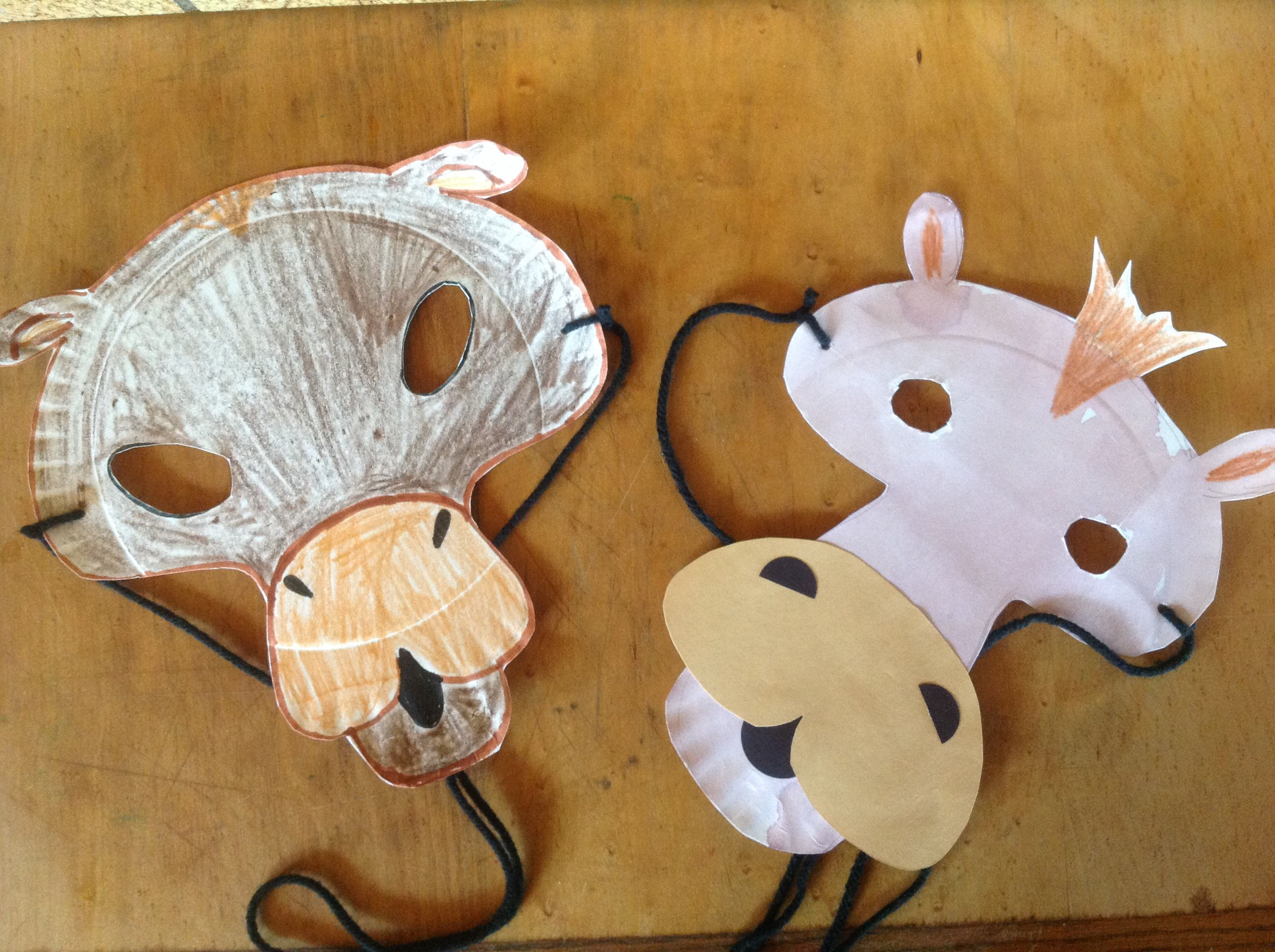 Camel Masks Paper Plate Construction Colored Pencils Or Markers 1 2 Yard Of Yarn Scissors By Mc 2017