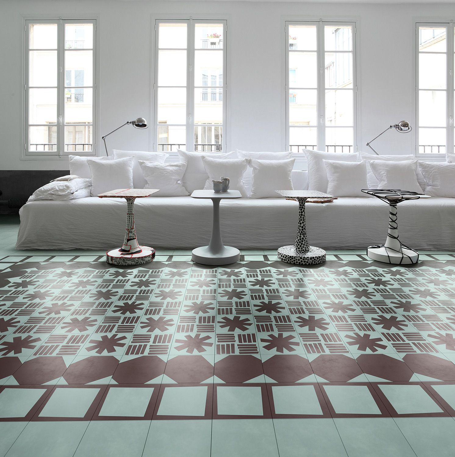 Asterisque, Bandes, Decoupe and Carreau: designed by Paola Navone ...