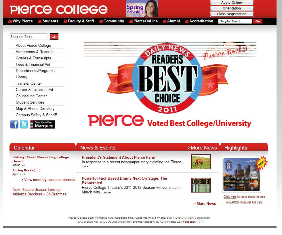 Los Angeles Pierce College Pierce College Faculty And Staff University List