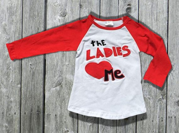 infant boys valentines day love heart the ladies love me boy valentine day raglan baseball t shirt kids clothes long sleeve top - Valentines Day Shirts Ladies