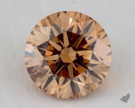 1.19 Carat fancy brownish yellow-I1 Round Cut Diamond