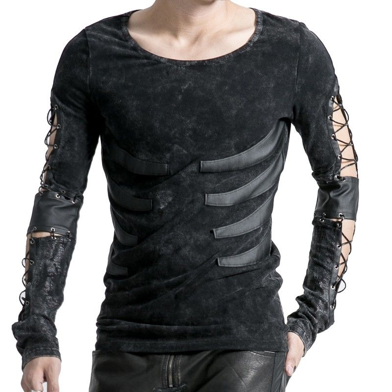 Long-sleeve men s top with strings on arms  949f00d8965