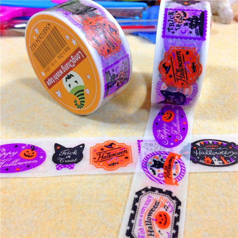 2015 fita de Halloween criativo adorável fitas de Scrapbooking face fita Washi adesivo DIY em Fita adesiva de Escritório & material escolar no AliExpress.com | Alibaba Group