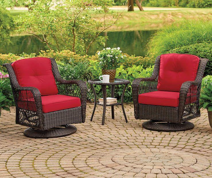 Pinehurst 4 Piece Replacement Swivel Glider Chair Cushion Sets