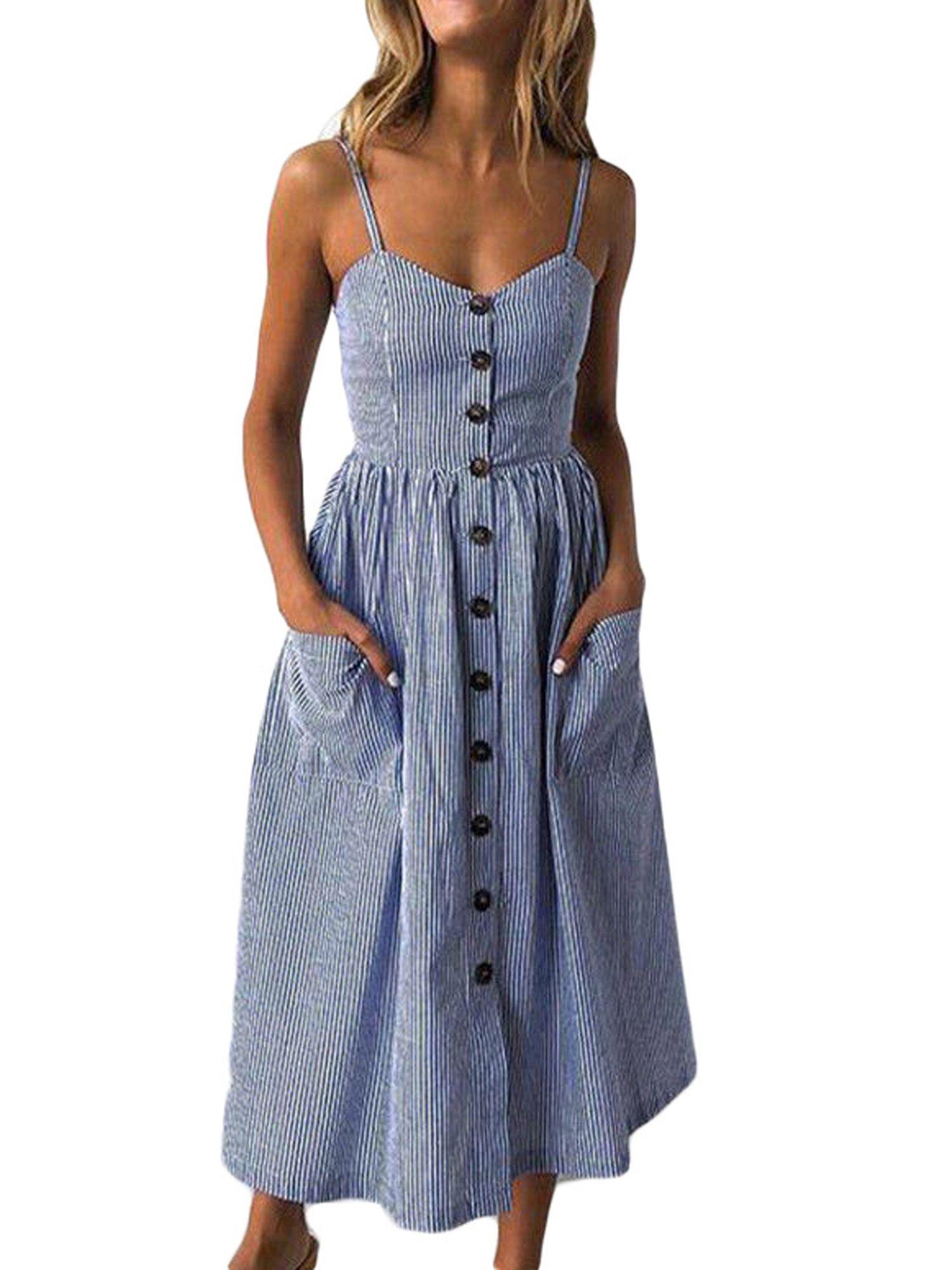Wodstyle Women S Strappy Floral Summer Beach Party Midi Swing Dress Walmart Com Midi Swing Dress Summer Dresses For Women Summer Dresses [ 2000 x 1500 Pixel ]