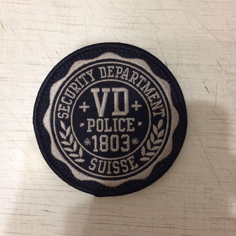 Swiss Patch Police Cantonale Vaudoise Polizei Switzerland Original Super Rarity  | eBay