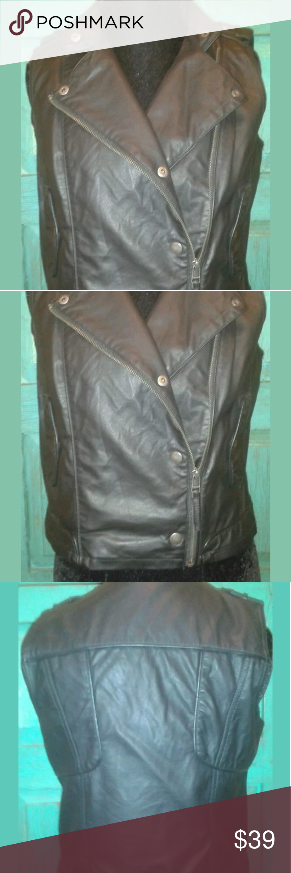50b35880f19f I just added this listing on Poshmark  New Women s Jr s Faux Leather Moto  Vest