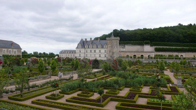 The gardens at Château de Villandry