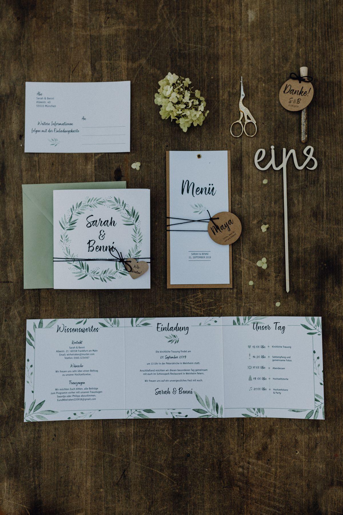 Hochzeitseinladung blühende Liebe inkl Kuvert, Hochzeitskarte, Einladungskarte zur Hochzeit, personalisierte Karte #personalizedwedding