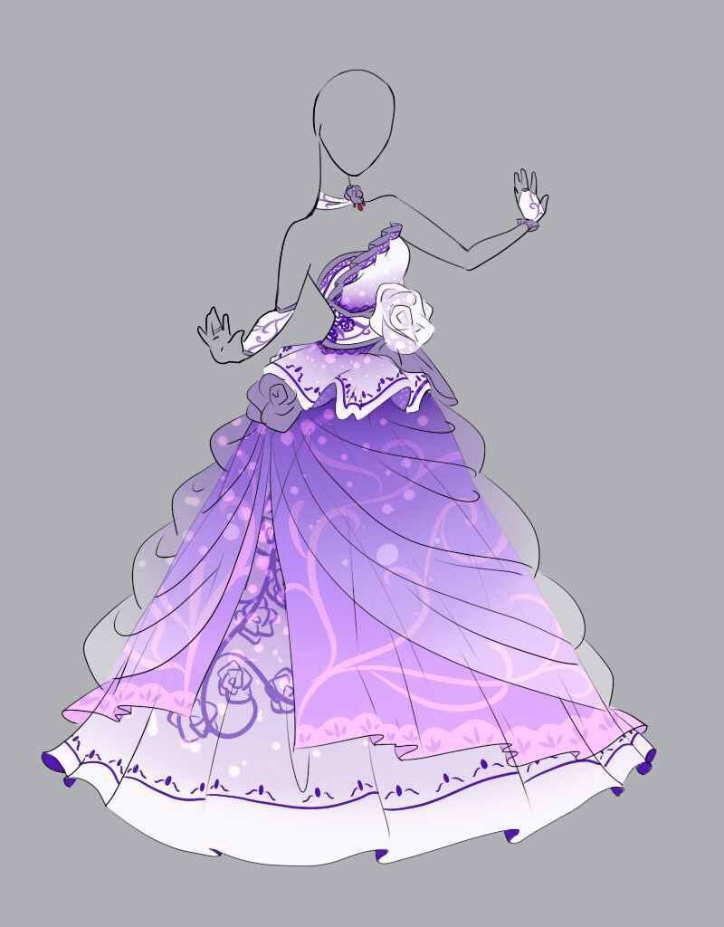 Diseño vestido princesa violeta | Anime outfits | Pinterest | Dibujo ...
