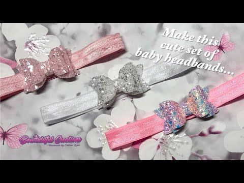 Hair bow tutorial: how to make baby headbands with glitter fabric bows
